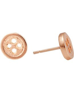 Gold Button Earrings