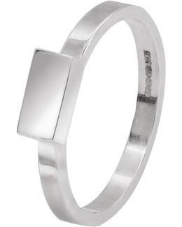 Rectangle Stacking Ring Silver