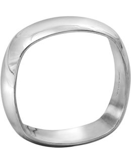 Squared Off Men's Ring In Silver