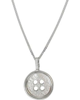 Button Pendant Silver