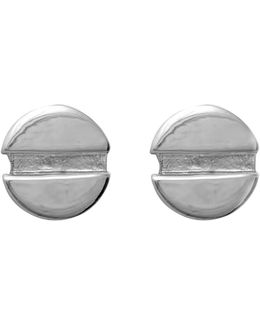 Flat Head Screw Earrings