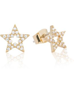Tricks Star Stud Earrings Gold
