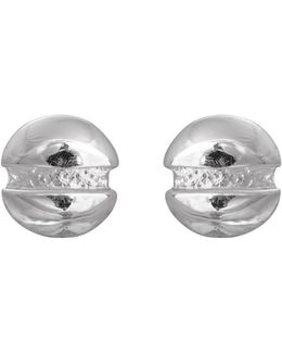 Round-head Screw Earrings Silver