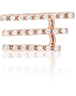 Crystal Armour Ear Cuff Rose Gold