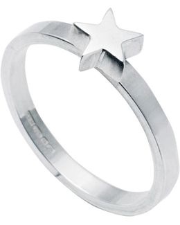 Star Stacking Ring Silver