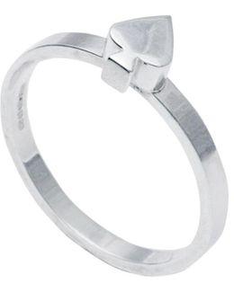 Spade Stacking Ring Silver