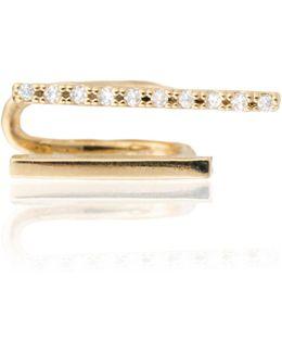 Two-timer Diamante Ear Cuff Gold