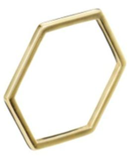Hexagon Tree Ring Gold