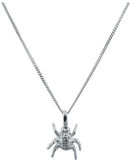 Spotted Bug Pendant Silver