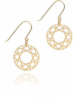 Gold Brilliant Diamond Drop Earrings