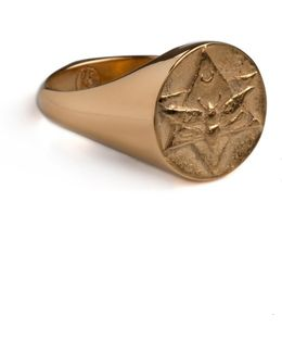 The Lunar Signet Ring Gold