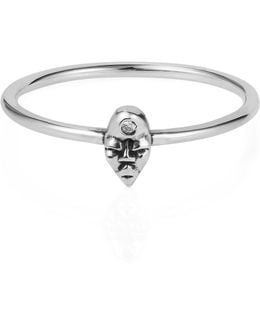 Tiny Voodoo Erzulie Ring – Diamond & Silver