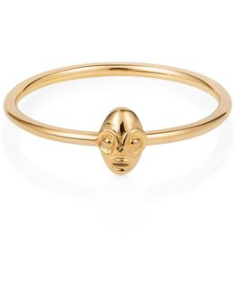 Tiny Voodoo Ghede Ring Gold Vermeil