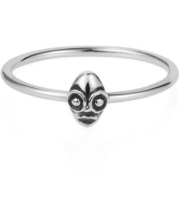Tiny Voodoo Ghede Ring Silver