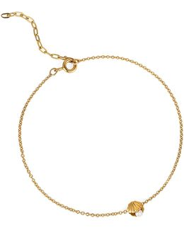 Mini Shell & Pearl Bracelet Gold Vermeil