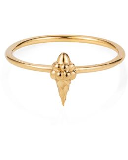 Tiny Ice Cream Ring Gold Vermeil