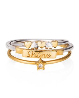 Shine Like A Star Hearts Stack Ring