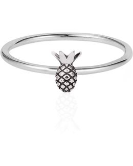 Tiny Pineapple Ring Silver