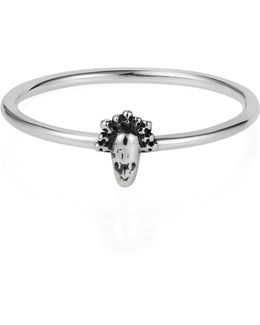 Tiny Voodoo Legba Ring Silver