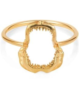 Shark Jawbone Ring Gold Vermeil