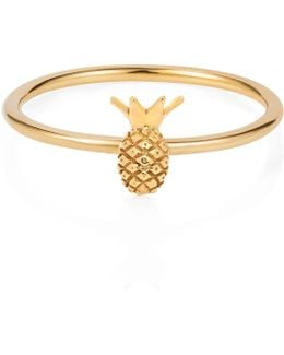 Tiny Pineapple Ring Gold Vermeil