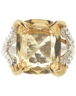 Antique Citrine Claws Of Engagement