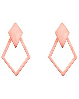 Ruit Detachable Drop Earrings Rose Gold