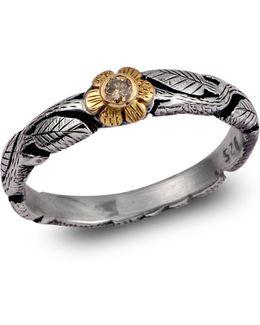Daisy Diamond Flower Ring