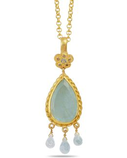 Alyce Aquamarine And Diamond Pendant