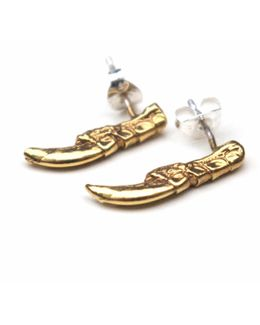 Gold Pigeon Claw Studs