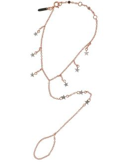 Falling Star Hand Chain Rose Gold