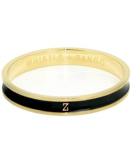 'z' Alphabet Bangle Black