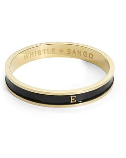 'e' Alphabet Bangle Black