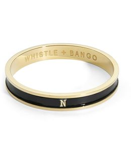 'n' Alphabet Bangle Black