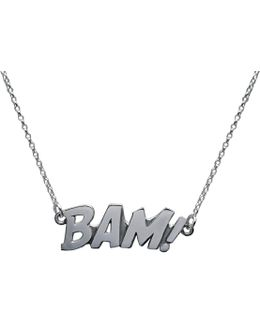 Bam Letters Necklace Large In Silver