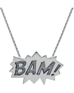 Bam Pendant Large Long In Silver