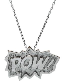 Pow Pendant Extra Large In Silver