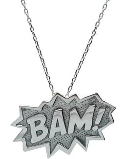 Bam Pendant Extra Large In Silver