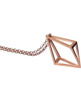 Rose Gold Inverted Kite Pendant