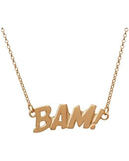 Bam Letters Necklace Large In Gold