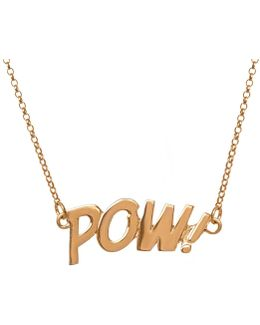 Pow Letters Necklace Large In Gold