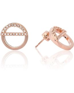 Half Circle Ear Jacket In Rose Gold