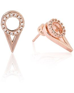 Circle Ear Jacket In Rose Gold