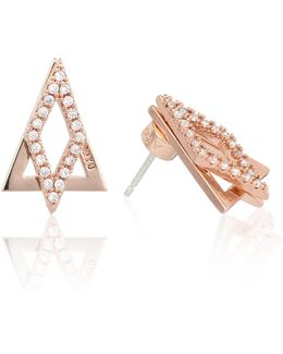 Diamond Ear Jacket In Rose Gold