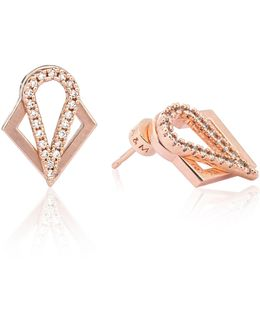 Teardrop Ear Jacket In Rose Gold