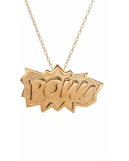 Pow Pendant Extra Large In Gold