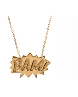 Bam Pendant Large Long In Gold
