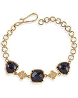 Opium Black Spinel & Moonstone Bracelet