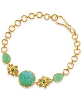 Samsara Chrysoprase & Diamond Bracelet