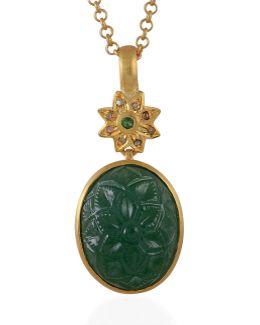 Samsara Diamond & Tsavorite Pendant